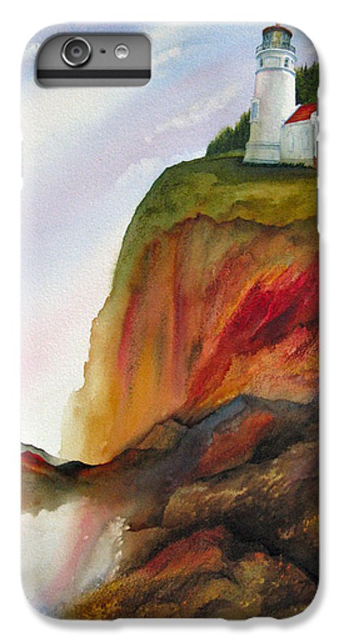Coastal IPhone 6 Plus Case featuring the painting High Ground by Karen Stark