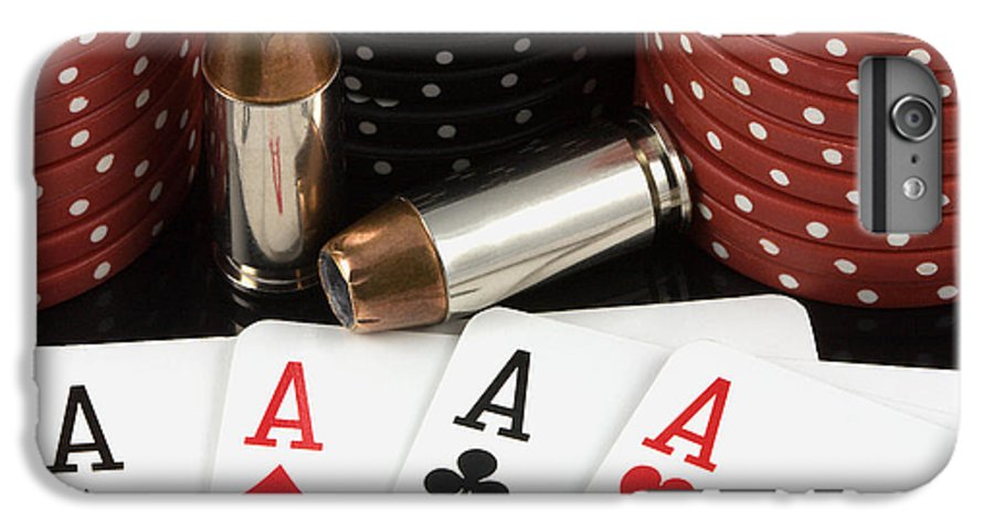 Aces IPhone 6 Plus Case featuring the photograph High Stakes Poker by Al Mueller
