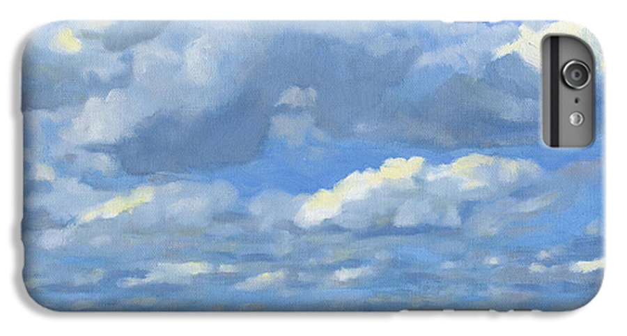 Landscape IPhone 6 Plus Case featuring the painting High Summer by Bruce Morrison