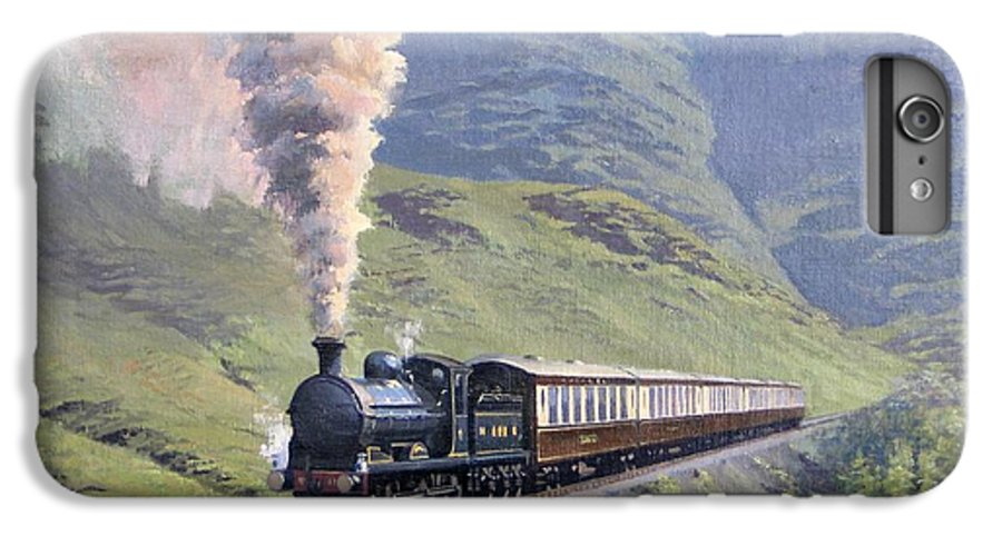 Steam IPhone 6 Plus Case featuring the painting Highland Steam by Richard Picton