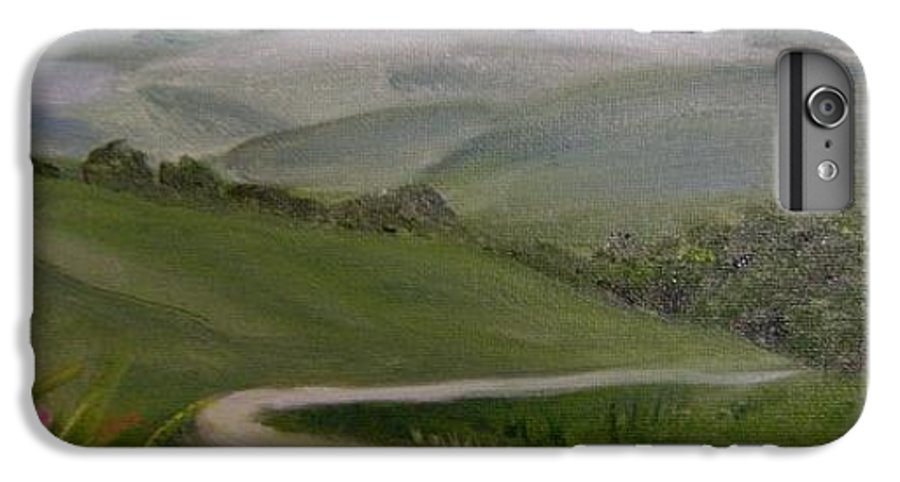 Pathway IPhone 6 Plus Case featuring the painting Highway Into The Hills by Toni Berry
