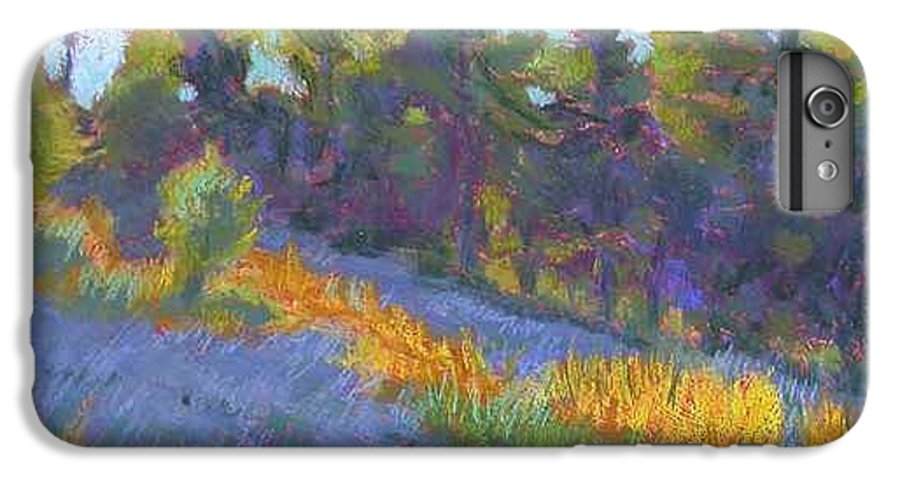 View Of Hillside And Evening Shadows IPhone 6 Plus Case featuring the painting Hillside Shadows by Julie Mayser