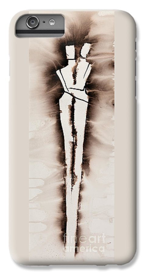 Ilisa Millermoon IPhone 6 Plus Case featuring the painting His Embrace Divine Love Series No. 1287 by Ilisa Millermoon