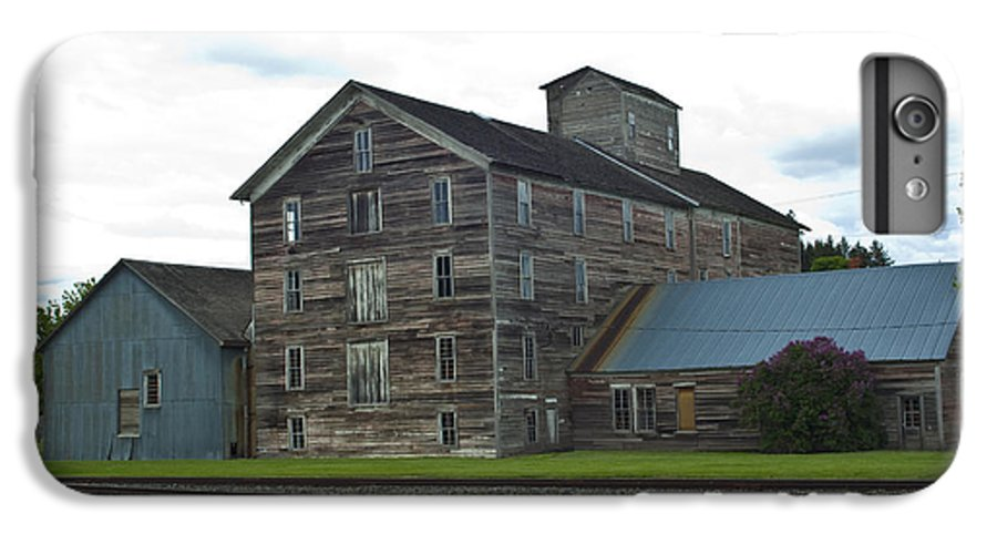 Historical IPhone 6 Plus Case featuring the photograph Historical Barron Wheat Flour Mill In Oakesdale Wa by Louise Magno
