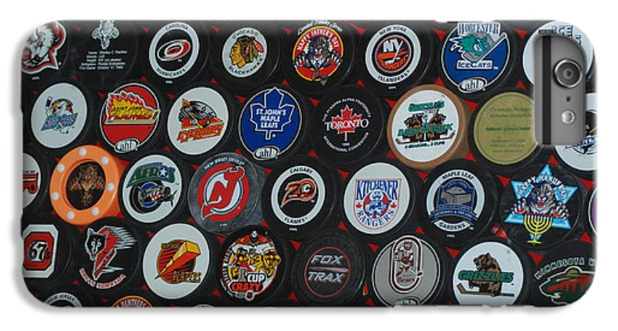 Pop Art IPhone 6 Plus Case featuring the photograph Hockey Pucks by Rob Hans