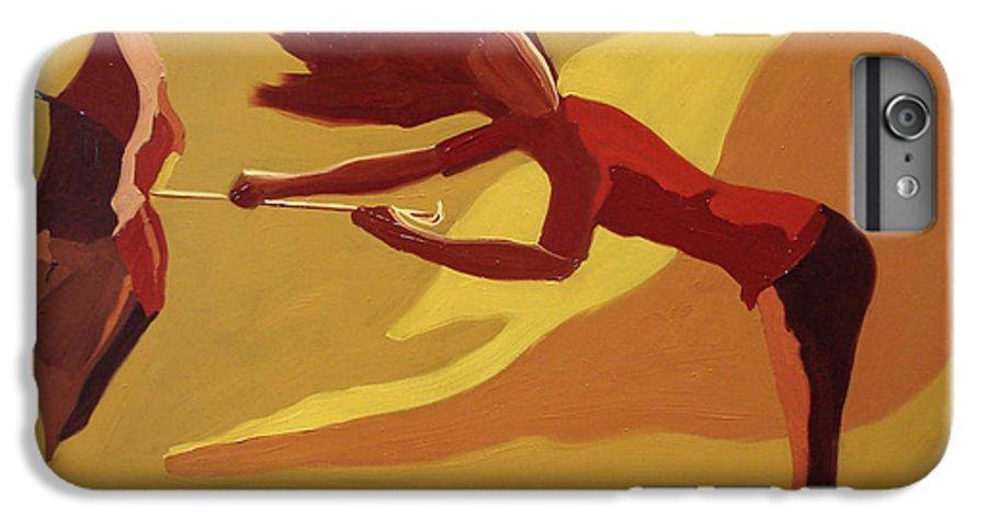 Woman IPhone 6 Plus Case featuring the painting Hold On by Barbara Andolsek