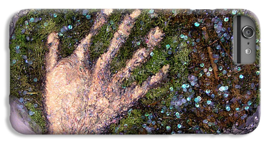 Evocative Espressionism IPhone 6 Plus Case featuring the mixed media Holding Earth From The Series Our Book Of Common Faith by Stephen Mead