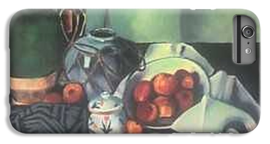 Still Life With Apples IPhone 6 Plus Case featuring the painting Homage To Cezanne by Steven Casey