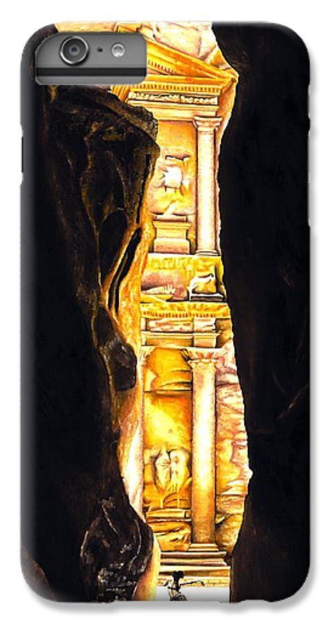 Bellydancer IPhone 6 Plus Case featuring the painting Homage To Petra by Richard Young