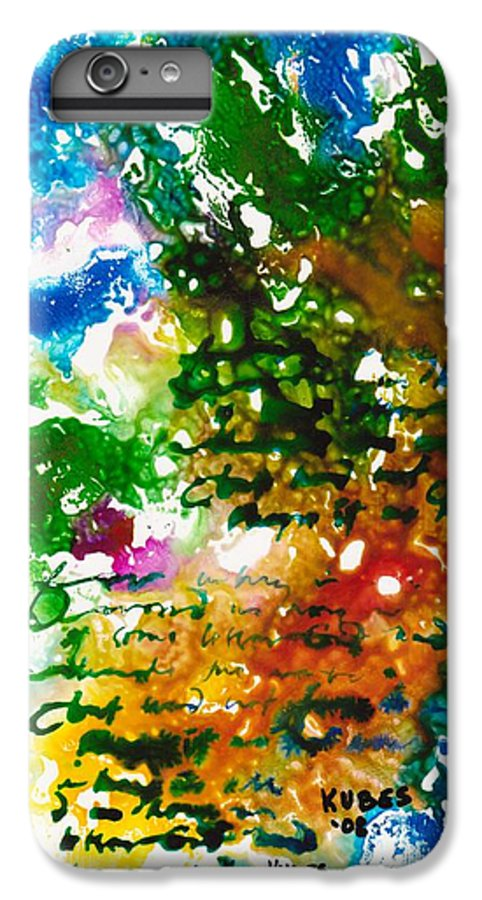 Abstract IPhone 6 Plus Case featuring the mixed media Home For Christmas by Susan Kubes