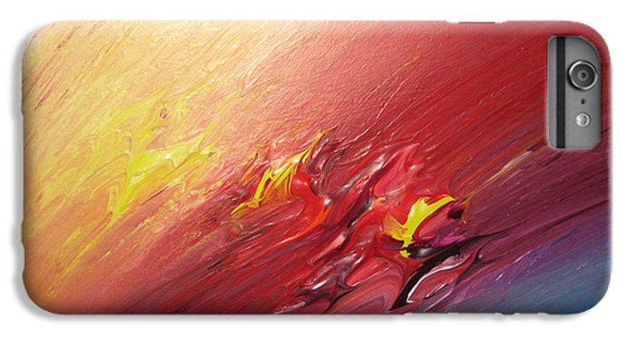 Abstract IPhone 6 Plus Case featuring the painting Honeymoon Bliss - A by Brenda Basham Dothage