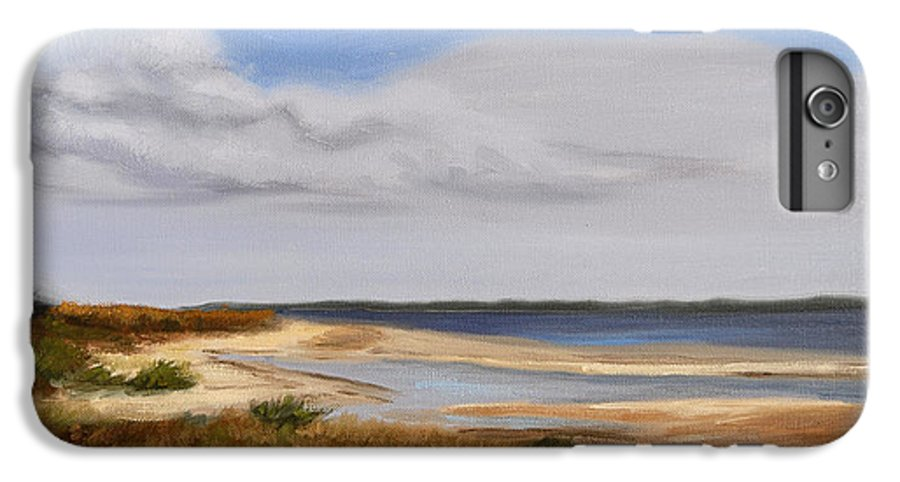 Landscape IPhone 6 Plus Case featuring the painting Honeymoon Island by Greg Neal