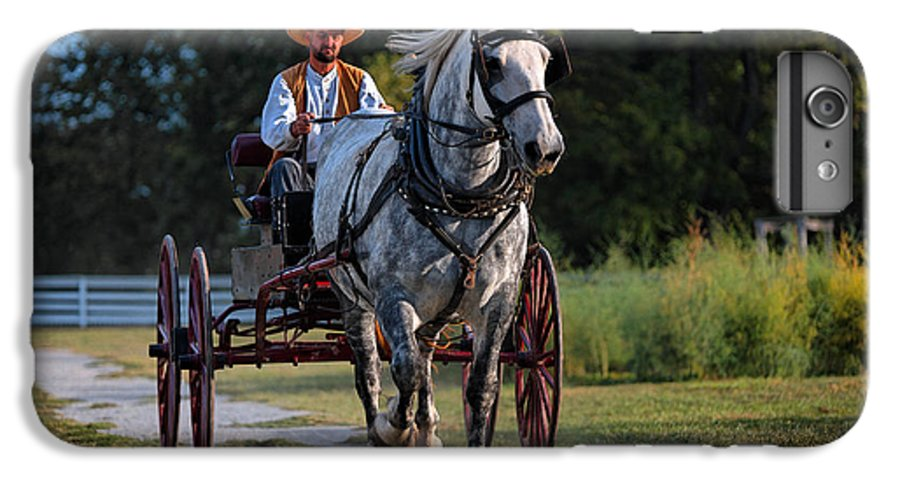 Horse IPhone 6 Plus Case featuring the photograph Horse And Buggy by Lone Dakota Photography