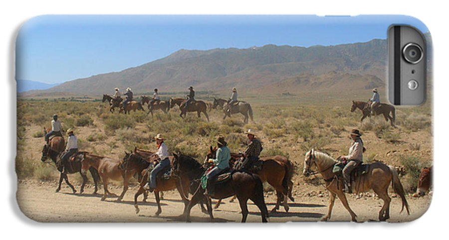 Horses IPhone 6 Plus Case featuring the photograph Horse Drive From June Lake To Bishop California by Christine Till