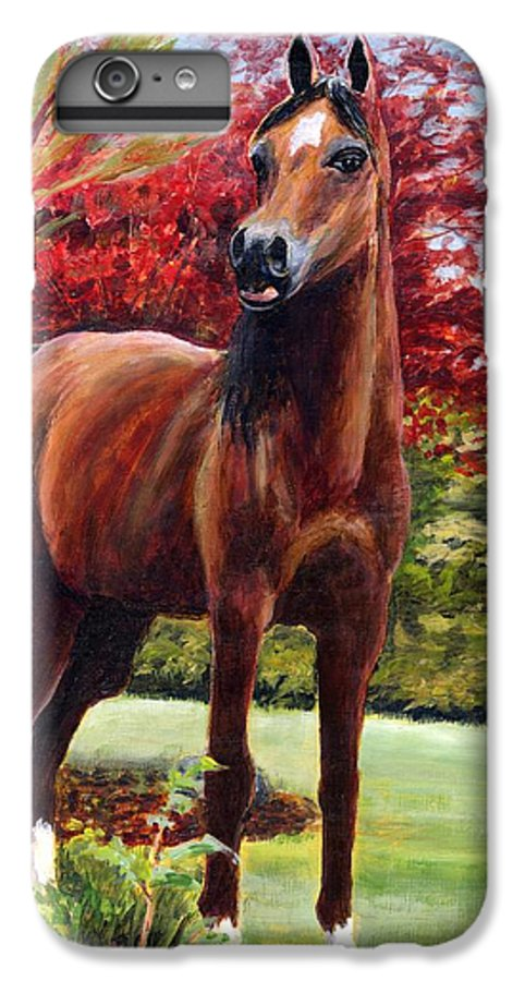 Horse IPhone 6 Plus Case featuring the painting Horse Portrait by Eileen Fong