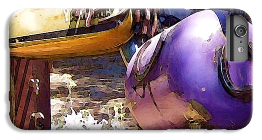 Sculpture IPhone 6 Plus Case featuring the photograph Horse With No Name by Debbi Granruth