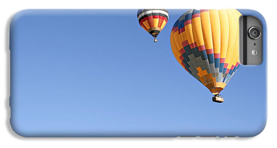 Balloons IPhone 6 Plus Case featuring the photograph Hot Air Balloon Ride A Special Adventure by Christine Till