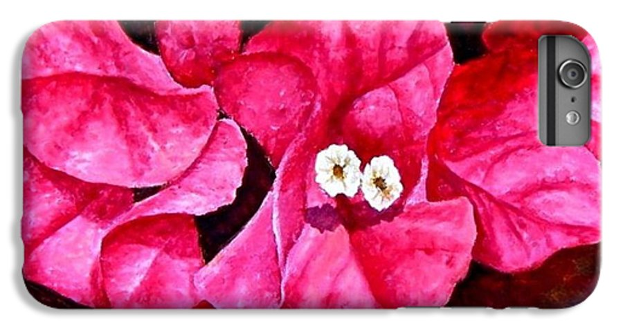 Oil IPhone 6 Plus Case featuring the painting Hot Pink Bougainvillea by Darla Brock