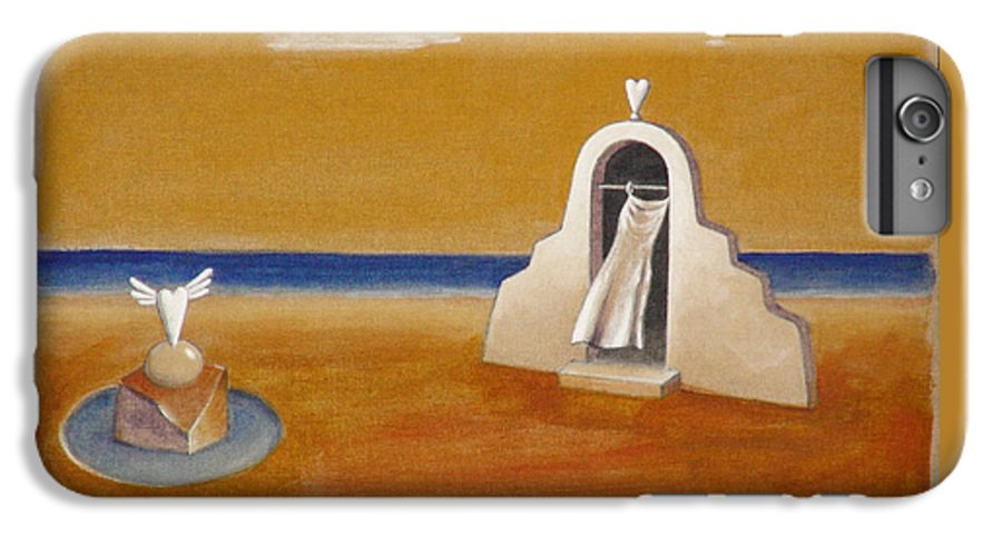 Chirico IPhone 6 Plus Case featuring the painting House Of Eros by Dimitris Milionis