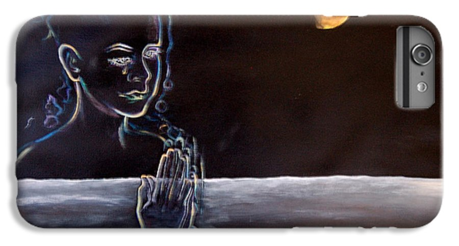 Moon IPhone 6 Plus Case featuring the painting Human Spirit Moonscape by Susan Moore
