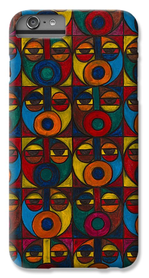 IPhone 6 Plus Case featuring the painting Humanity by Emeka Okoro