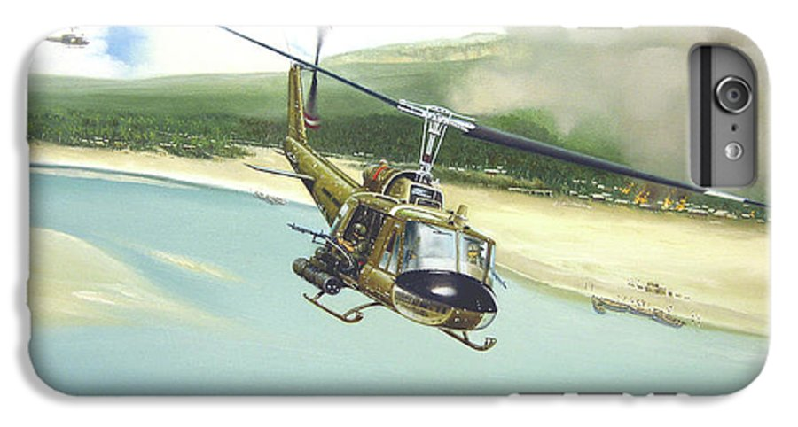 Military IPhone 6 Plus Case featuring the painting Hunter Hueys by Marc Stewart
