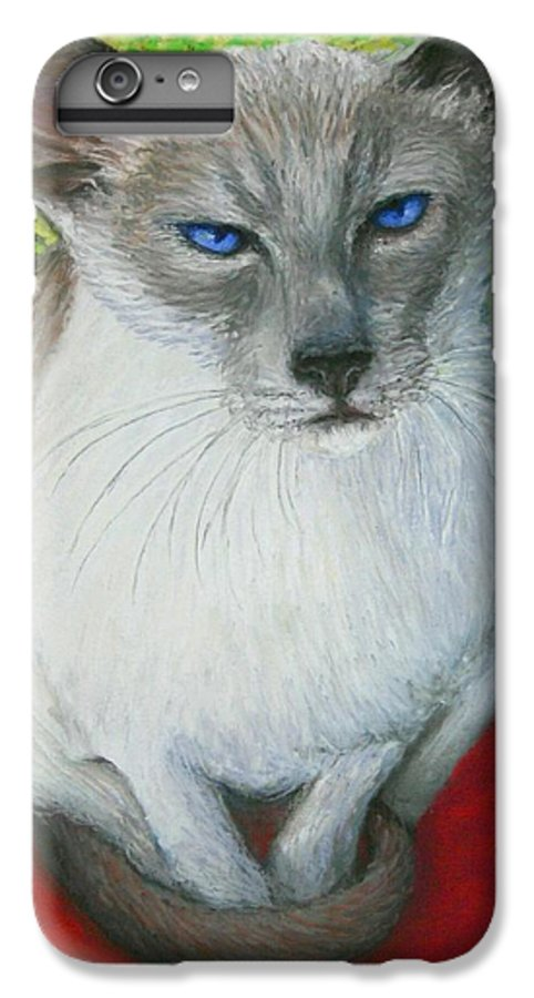 Siamese IPhone 6 Plus Case featuring the painting I Am Siamese If You Please by Minaz Jantz