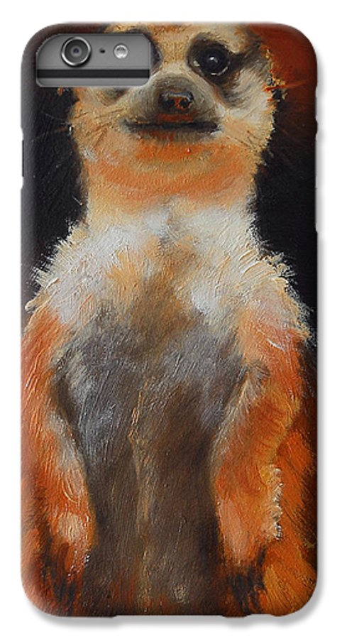 Oil IPhone 6 Plus Case featuring the painting I See You Too by Greg Neal