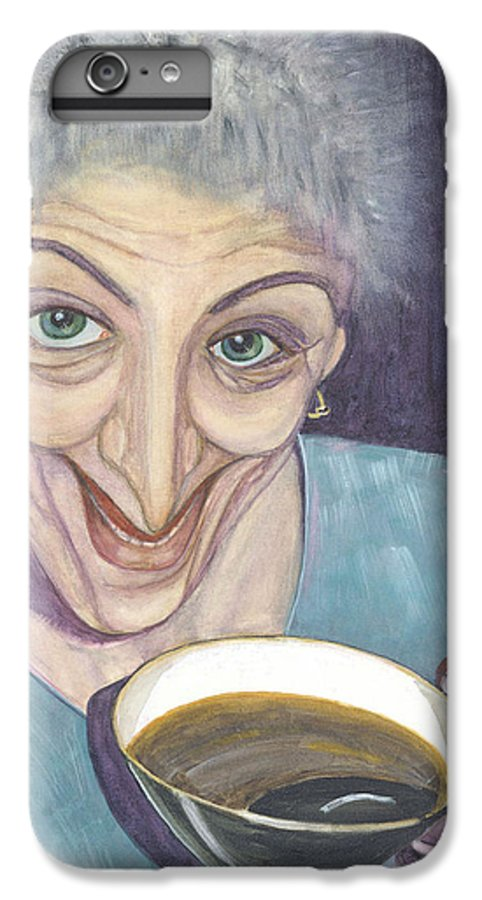 Portrait IPhone 6 Plus Case featuring the painting I Would Like To Try This One by Olga Alexeeva