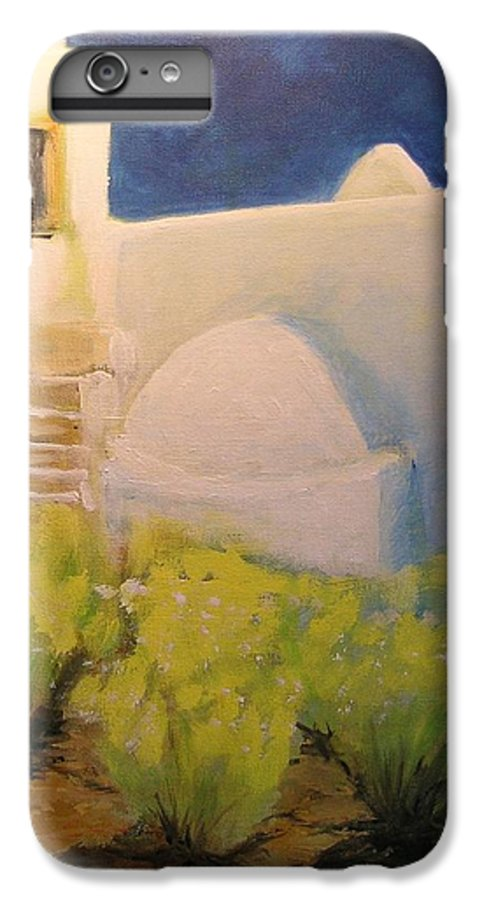 Landscape IPhone 6 Plus Case featuring the painting Ibicencan Country House by Lizzy Forrester