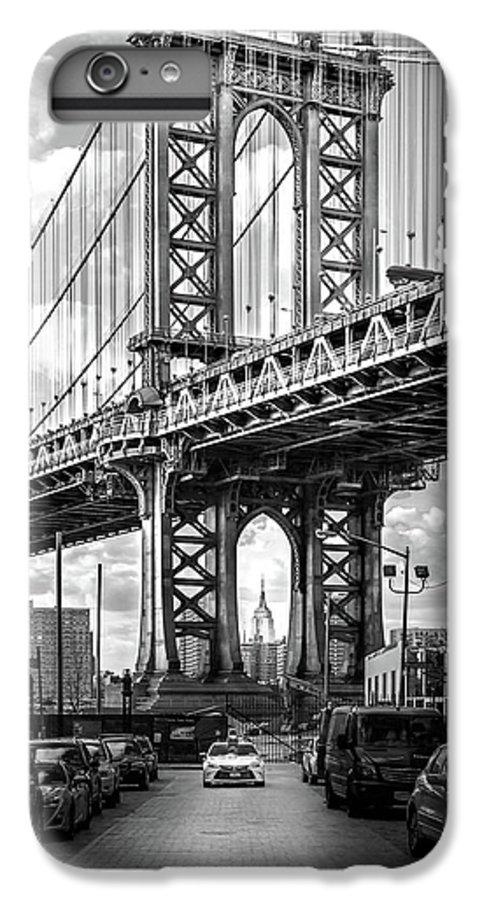 New York City IPhone 6 Plus Case featuring the photograph Iconic Manhattan Bw by Az Jackson