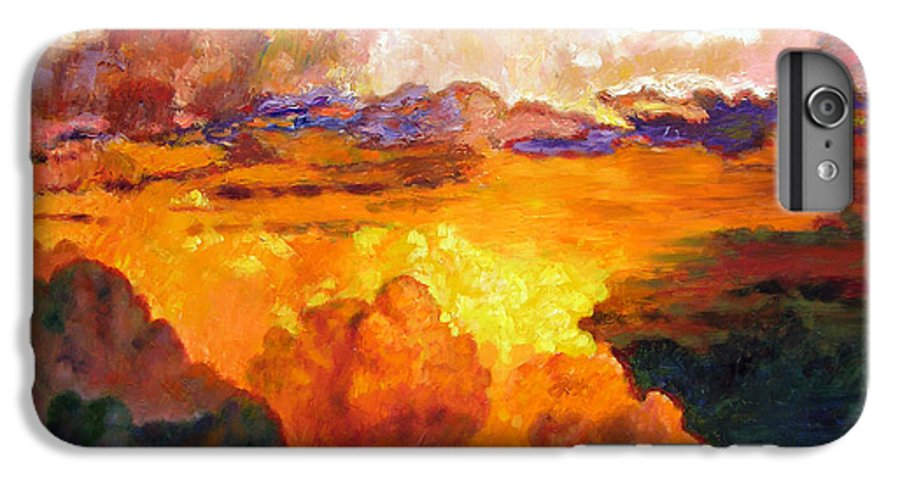 Clouds IPhone 6 Plus Case featuring the painting Ill Fly Away O Glory by John Lautermilch