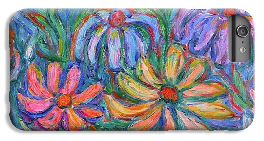 Flowers IPhone 6 Plus Case featuring the painting Imaginary Flowers by Kendall Kessler