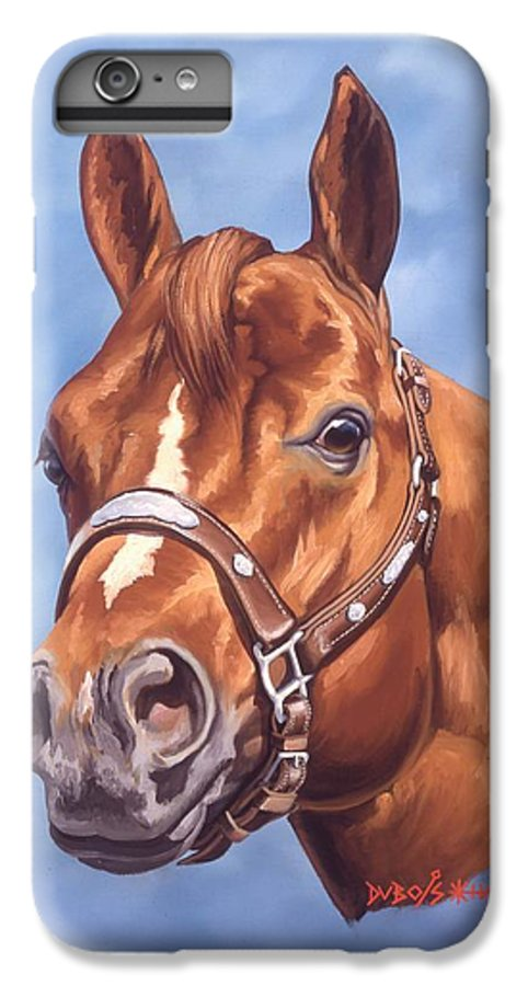 Quarter Horse IPhone 6 Plus Case featuring the painting Impressive by Howard Dubois