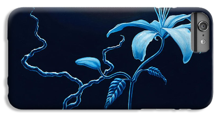 Lily Flower IPhone 6 Plus Case featuring the painting In Memorial by Jennifer McDuffie