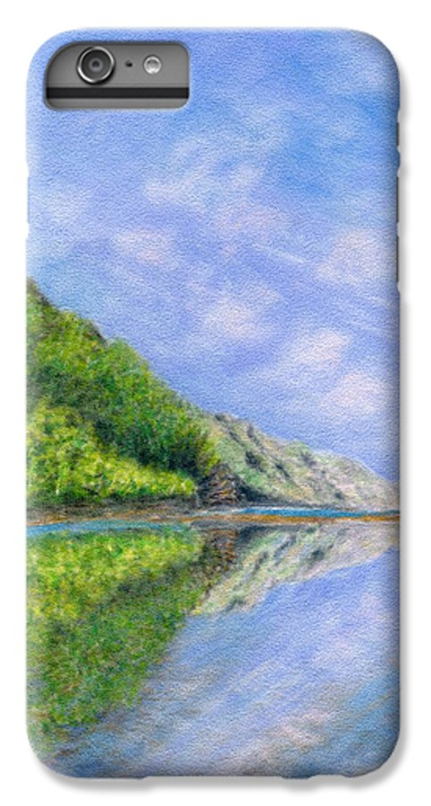 Rainbow Colors Pastel IPhone 6 Plus Case featuring the painting In Reflection by Kenneth Grzesik