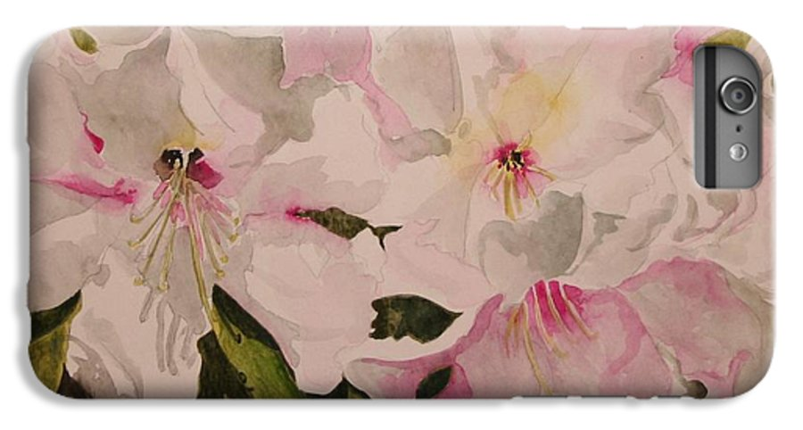 Pink IPhone 6 Plus Case featuring the painting In The Pink by Jean Blackmer