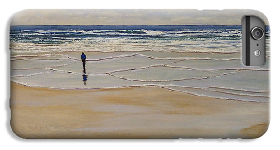 Beach Walk IPhone 6 Plus Case featuring the painting Incoming Tide by Frank Wilson