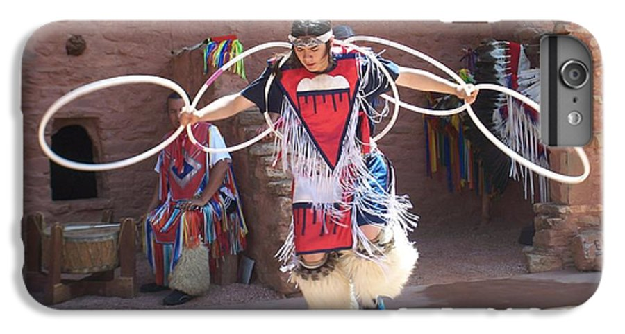 Indian Dancer IPhone 6 Plus Case featuring the photograph Indian Hoop Dancer by Anita Burgermeister