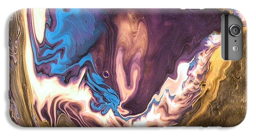Abstract IPhone 6 Plus Case featuring the painting Inner Flame by Patrick Mock