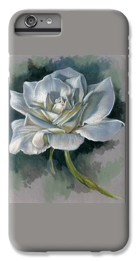 Rose IPhone 6 Plus Case featuring the mixed media Innocence by Barbara Keith