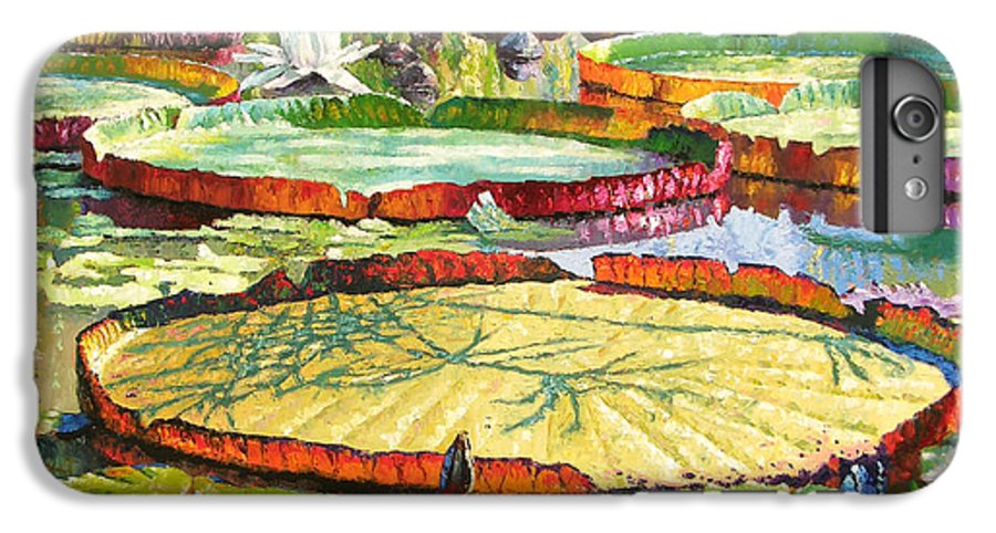 Garden Pond IPhone 6 Plus Case featuring the painting Interwoven Beauty by John Lautermilch
