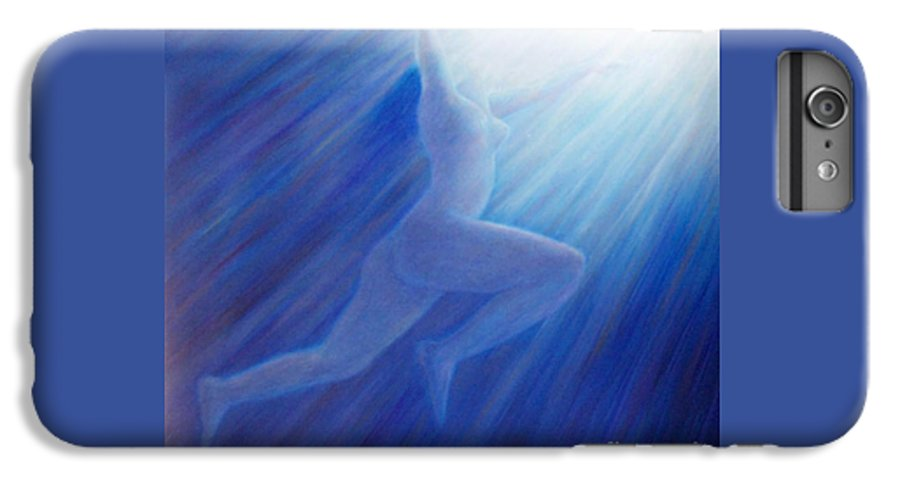 Spiritual IPhone 6 Plus Case featuring the painting Into The Light by Brian Commerford