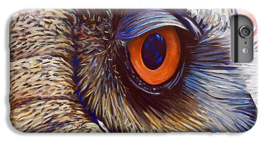 Owl IPhone 6 Plus Case featuring the painting Introspection by Brian Commerford