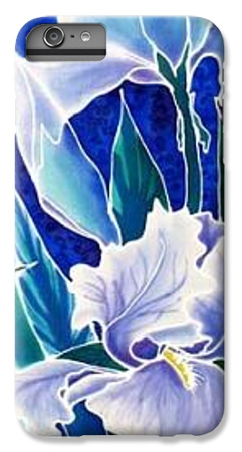 Iris IPhone 6 Plus Case featuring the painting Iris by Francine Dufour Jones