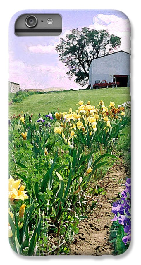 Landscape Painting IPhone 6 Plus Case featuring the photograph Iris Farm by Steve Karol
