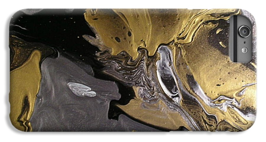 Abstract IPhone 6 Plus Case featuring the painting Is It A Crime by Patrick Mock