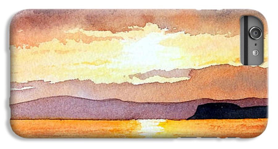 Seascape IPhone 6 Plus Case featuring the painting Islay And Cara From Kintyre Scotland by Paul Dene Marlor