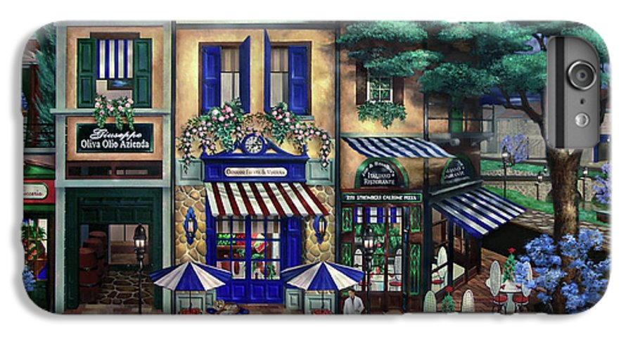 Italian IPhone 6 Plus Case featuring the mixed media Italian Cafe by Curtiss Shaffer