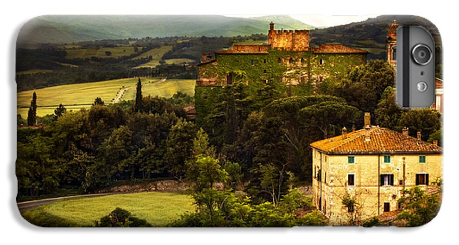 Italy IPhone 6 Plus Case featuring the photograph Italian Castle And Landscape by Marilyn Hunt